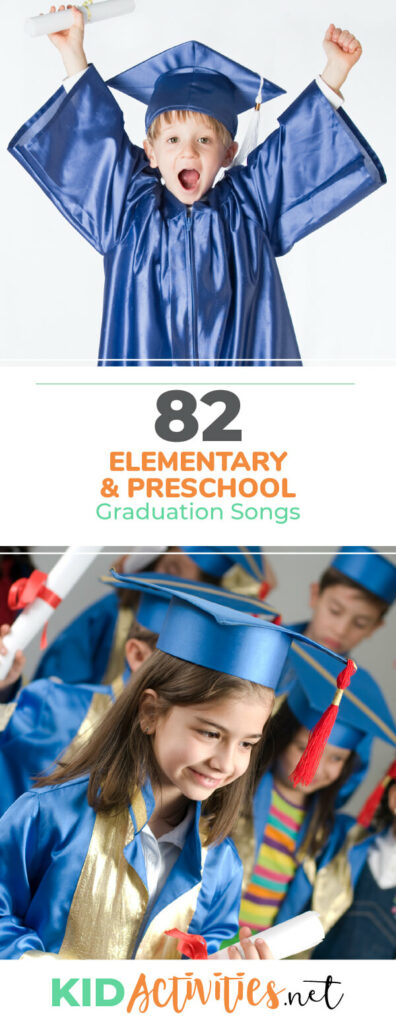 A collection of graduation songs to play at your preschool or elementary graduation ceremony.