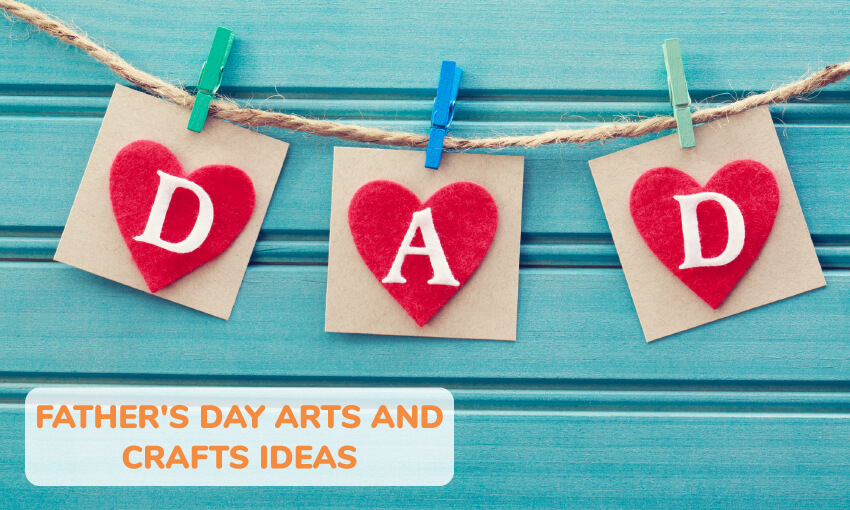 A collection of Father's Day arts and crafts ideas for kids.
