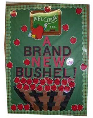apple themed bulletin boards