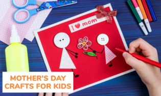 A collection of Mother's Day crafts for kids to make.