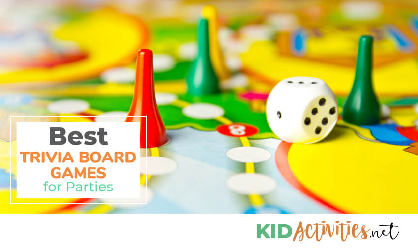 A collection of the best trivia board games for parties.