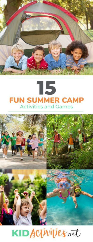 A collection of fun summer camp games and activities for kids.