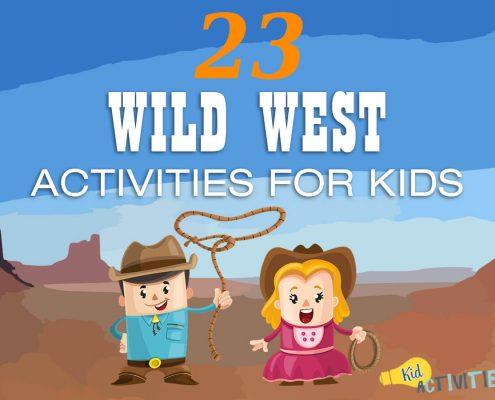 wild west activities for kids