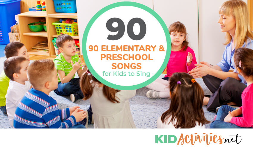 A collection of preschool songs for kids to sing in the classroom.