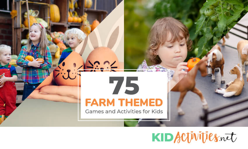 A collection of farm themed games and activities for kids. Great for teaching kids about farms and agricultural history.