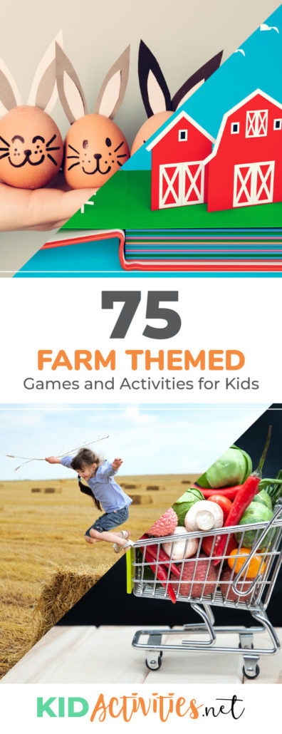 A collection of farm themed games and activities for kids. Great for teaching kids the history of farming and all about life on the farm. You will find some fun farm themed arts and crafts ideas, as well as farm games, activities, songs, and poems.