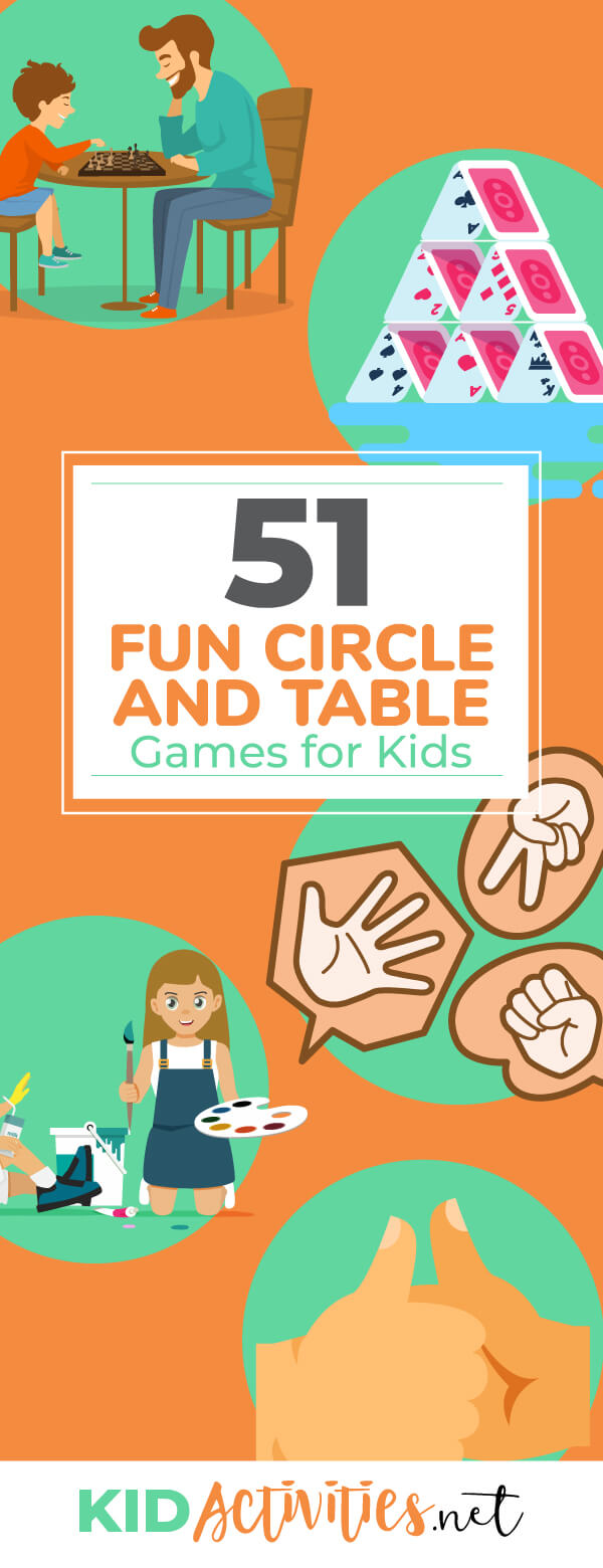 A collection of fun circle and table games for kids. Enjoy these great table and circle activities inside the classroom or at home.
