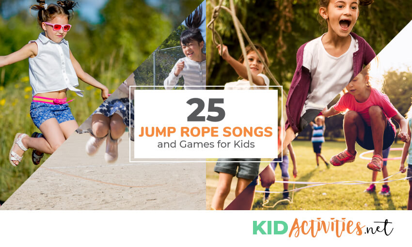 A collection of jump rope songs and games for kids.