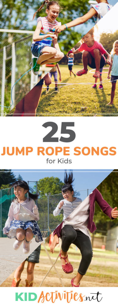 A collection of jump rope songs and jump rope games for kids. These are great for PE class or kids parties.