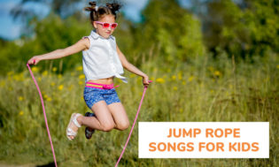 A collection of jump rope songs for kids.