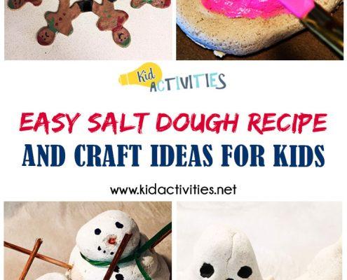 Easy Salt Dough Recipe and Craft ideas
