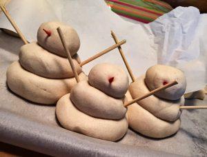 Salt Dough Snowman 2