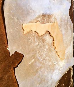 3D Salt Dough Map of Florida 2