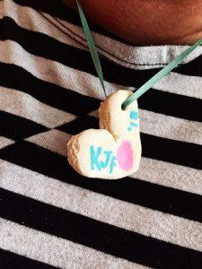 Fingerprint Necklace DIY Salt Dough