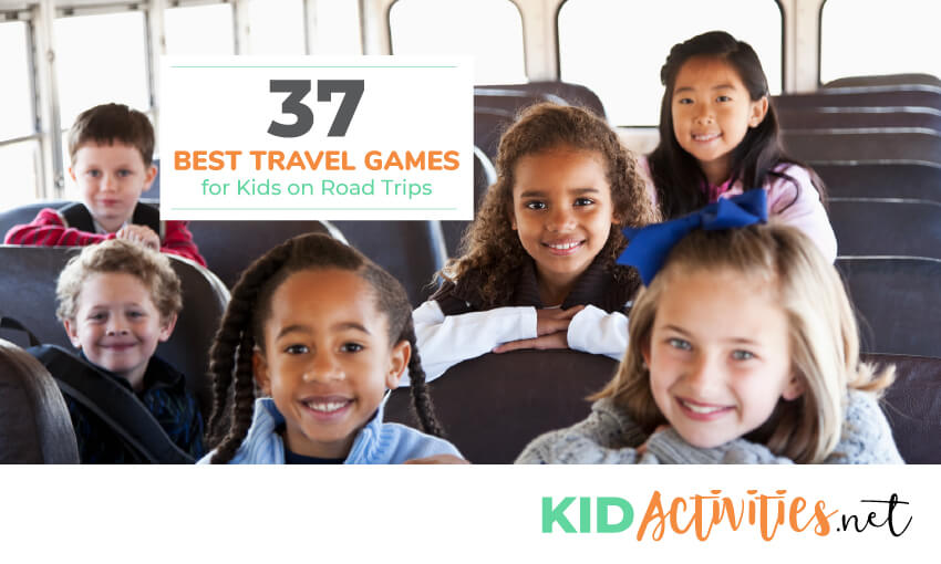 A collection of the best travel games for kids on road trips.