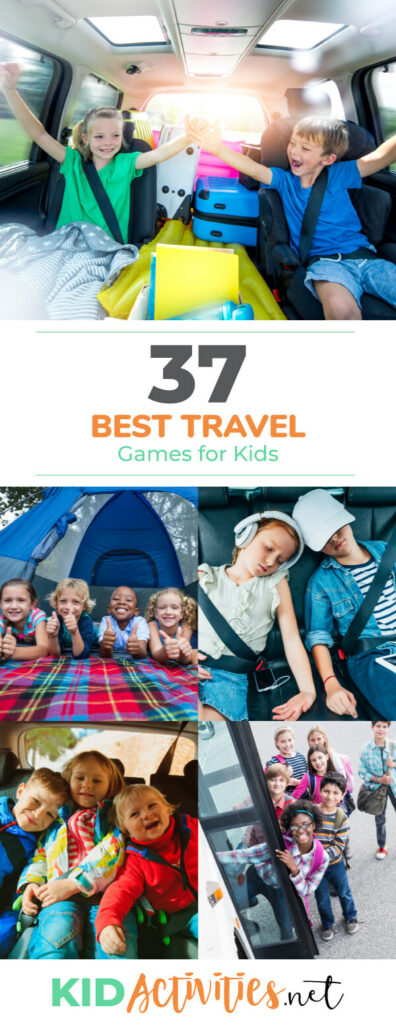 A collection of travel games and activities for kids. This list is perfect for keeping the kids entertained and having fun while on a road trip or on a plane. A list of free games and activities as well as fun games to buy.