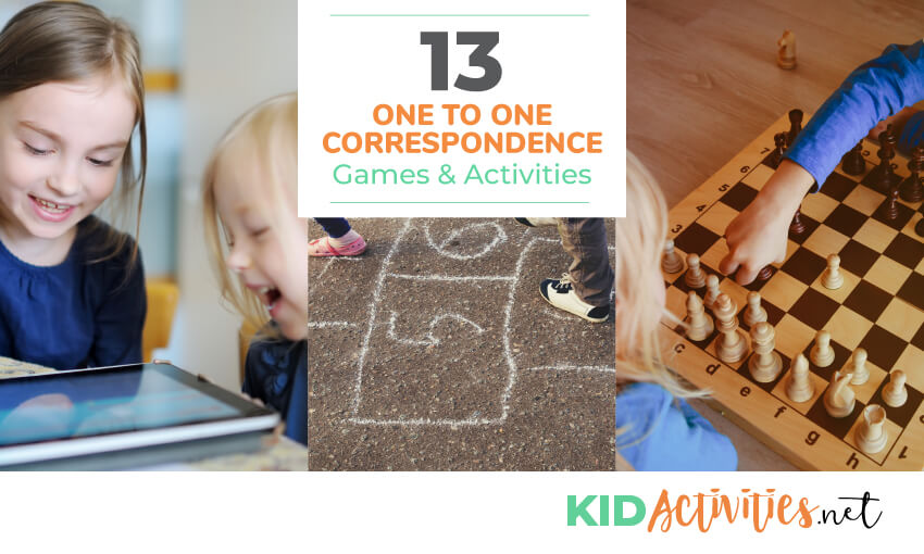 A collection of one to one correspondence games and activities for kids.
