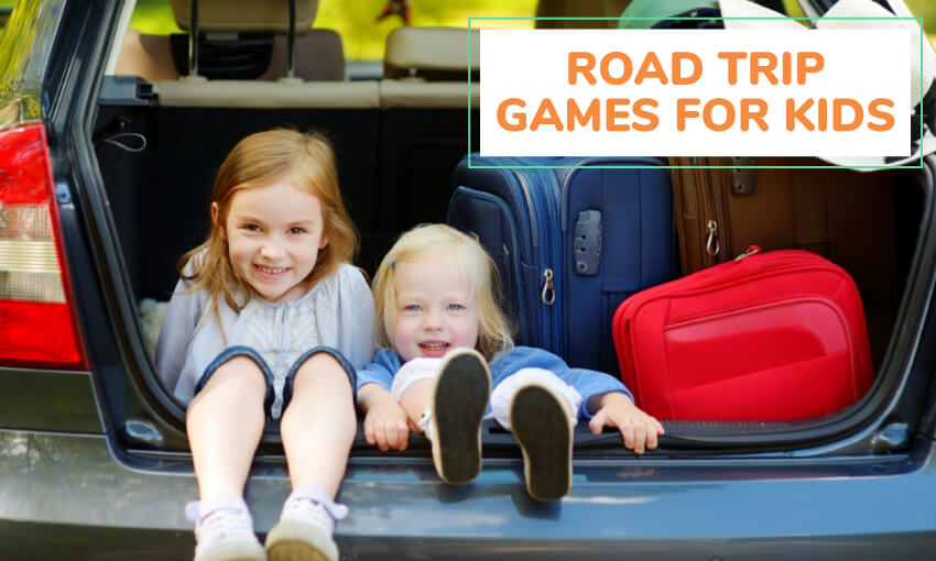 A collection of road trip games for kids.