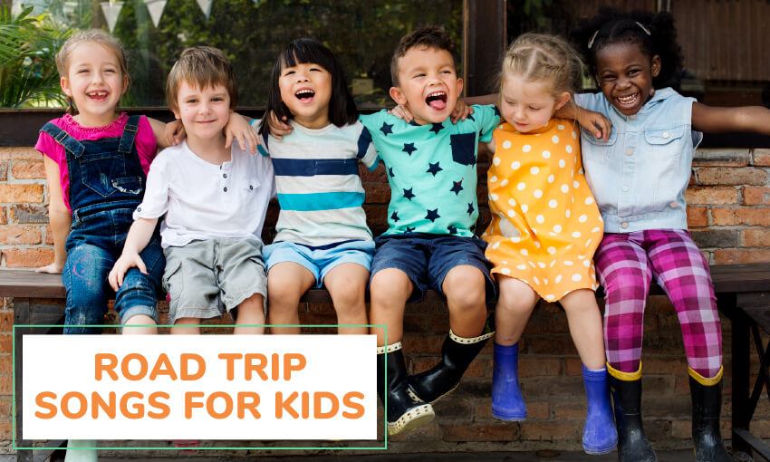 A collection of road trip songs for kids.