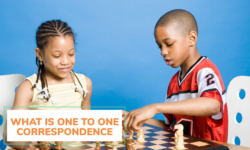 We answer the question of what is one to one correspondence?