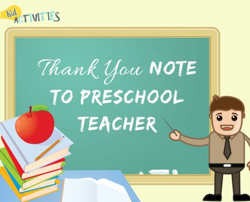 thank you note to preschool teacher