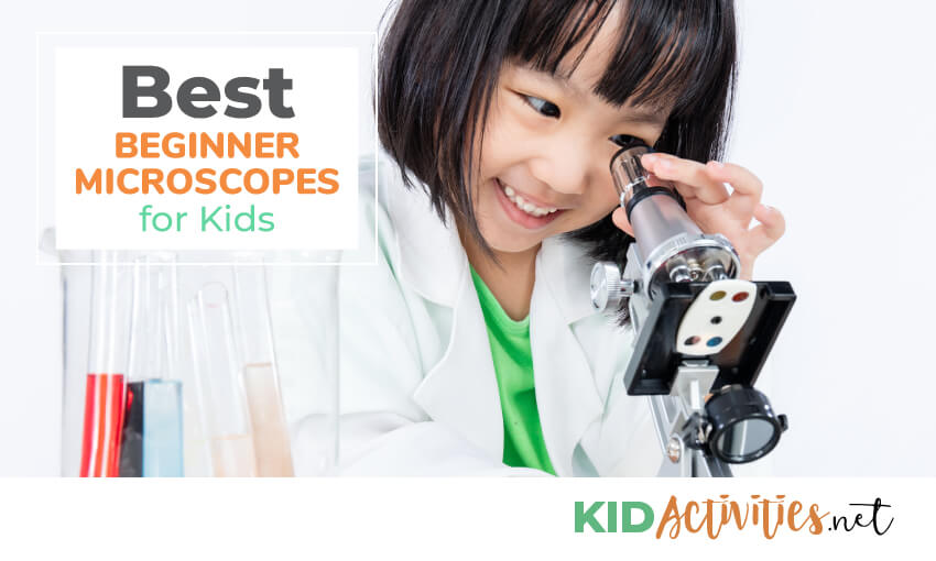 A collection of beginner microscopes for kids.