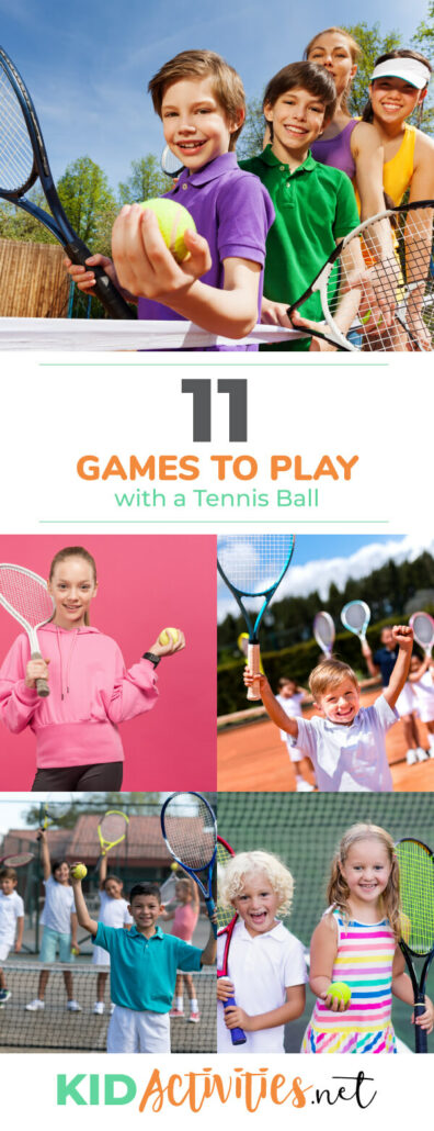 A collection of fun games to play with a tennis ball. Great for gym class or games to keep kids buys in the summer.