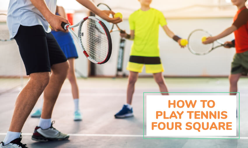 How to play foursquare tennis game.