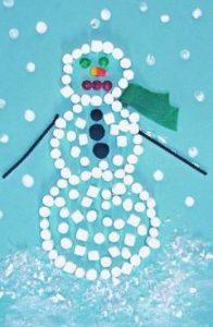 marshmallow snowman craft idea