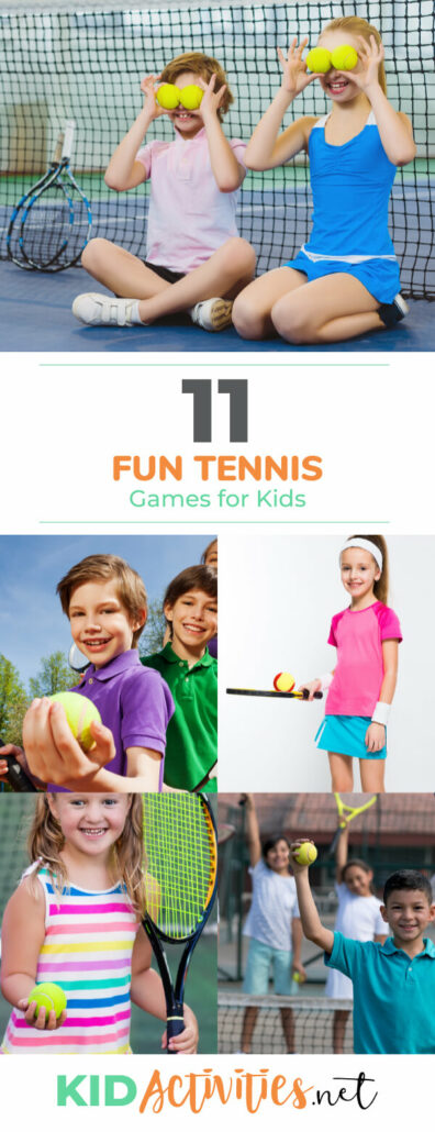A collection of fun tennis games for kids. Great for gym class, recess, and summer.