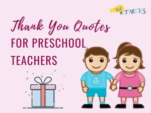 thank you quotes for preschool teachers