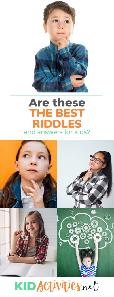 A collection of the best riddles and answers for kids.
