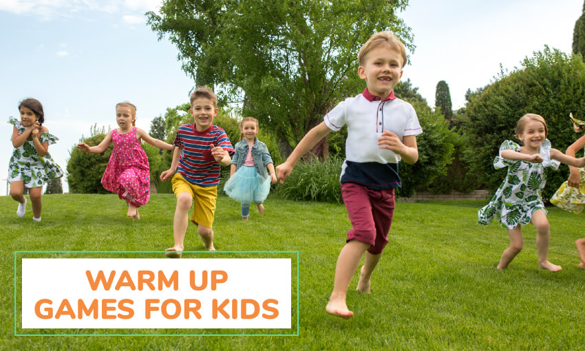 A collection of warm up games for kids.