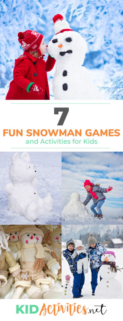 A collection of snowman games and activity ideas for kids. <a href=