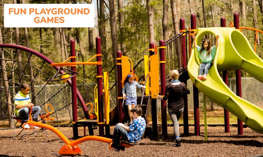 孩子们的游乐场亲子游戏的集合。