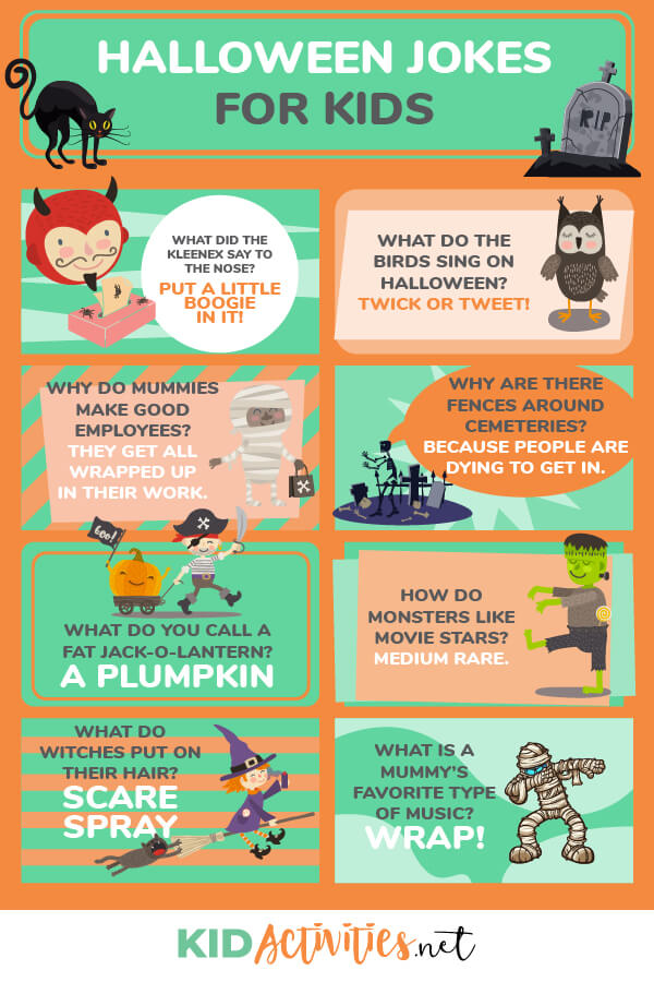 25 Funny Halloween Jokes For Kids Kid Activities