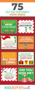 75 Elf On The Shelf Note Ideas For Kids Kid Activities
