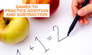 A collection of games to practice addition and subtraction for preschool and elementary kids.