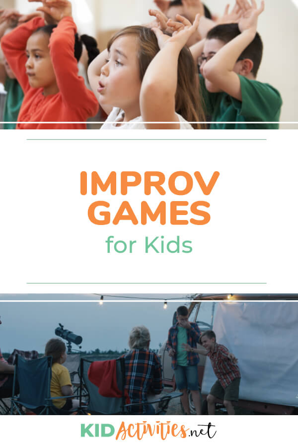 A collection of improv games and exercises for kids. Fun activities for drama class or activities for drama summer camp.