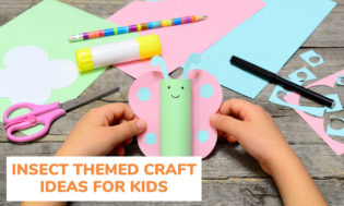 A collection of insect themed craft ideas for kids.