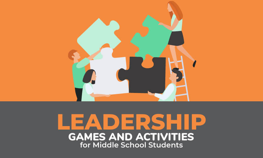 A collection of leadership games and activities for middle school students.
