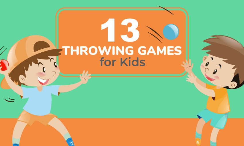 A collection of throwing games for kids.