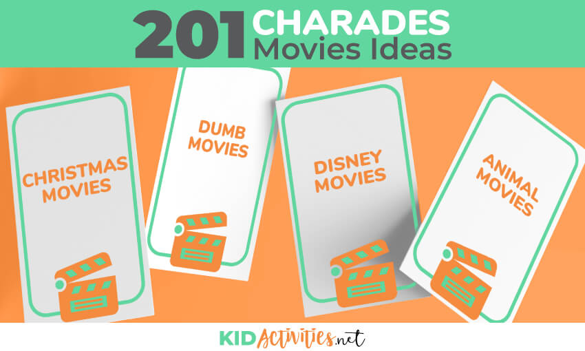 A collection of charades movies ideas.