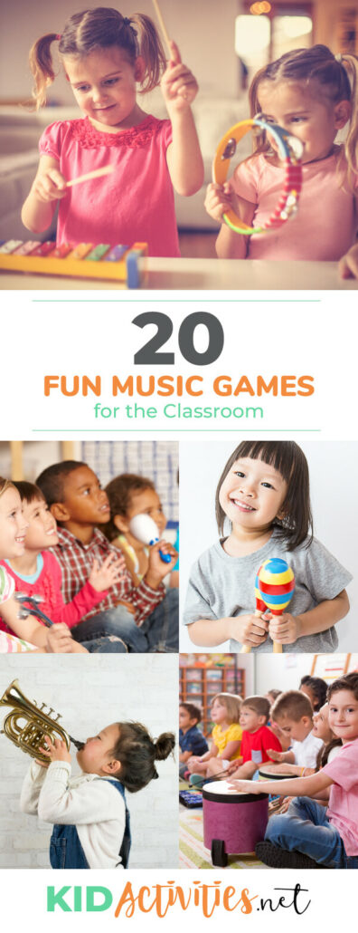 A collection of fun music games for the classroom. Great for teaching and engaging the kids in the subject of music.