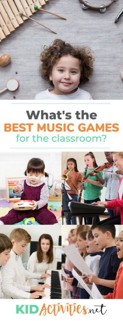 What's the best music games for the classroom? We list out 20 games that incorporate music.