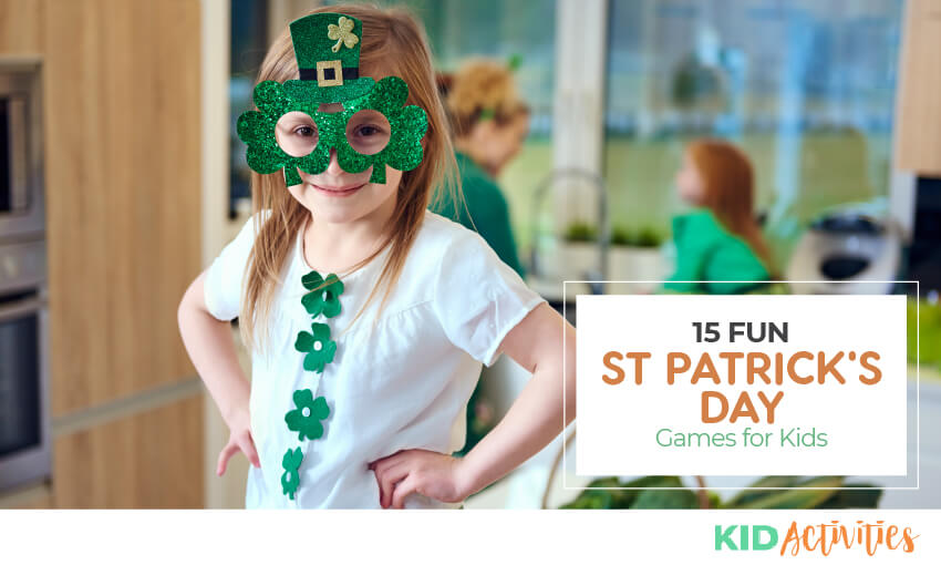 A collection of 15 fun St Patrick's Day games for kids in the classroom.