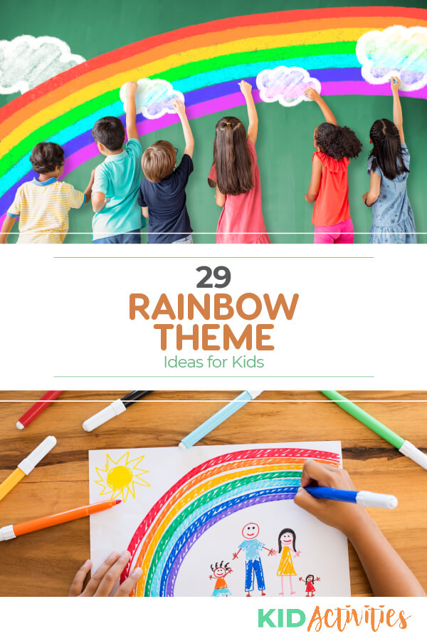 A collection of 29 rainbow theme ideas for kids. Great for a rainbow <a href=