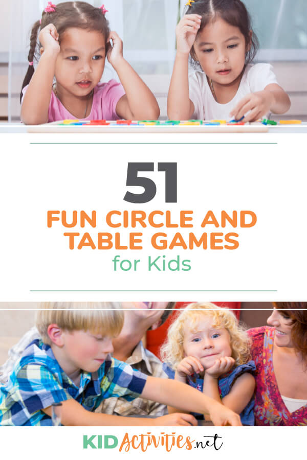 A collection of fun circle and table games for kids.