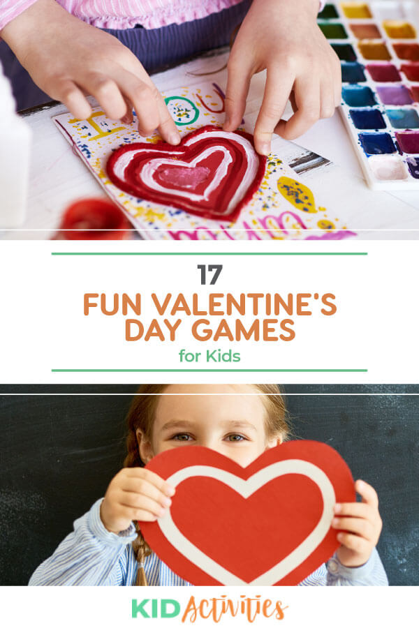 A collection of 17 fun Valentine's Day games for kids.