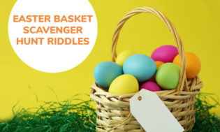 A collection of Easter basket scavenger hunt riddles for kids.